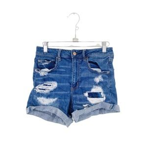 AEO Distressed Super Hi-Rise Shortie